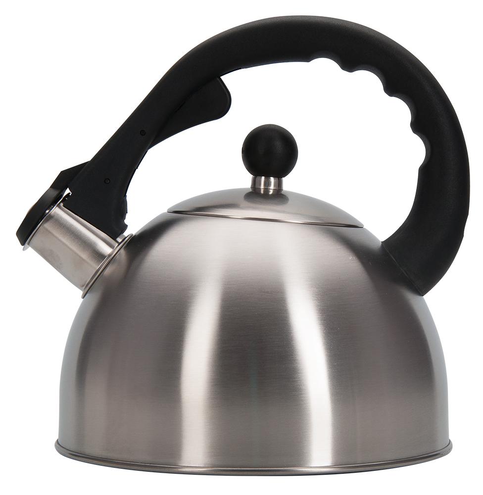 Чайник Regent Inox Promo, со свистком, 2,3 л94-1502Чайник Regent Inox Promo подходит не только для того, чтобы вскипятить воду и напоить вкусным чаем своих родных, но и для украшения вашей кухни. Чайник выполнен из нержавеющей стали с матовым полированием, стальная ручка с бакелитовой вставкой. многослойное капсулированное дно обладает массой достоинств, например, высокая теплопроводность, которая и обеспечивает быстрое закипание. Нержавеющая сталь также стойка к коррозии и кислотам, прочна и долговечна. Чайник подходит для всех видов плит и его можно мыть как вручную, так и в посудомоечной машине.