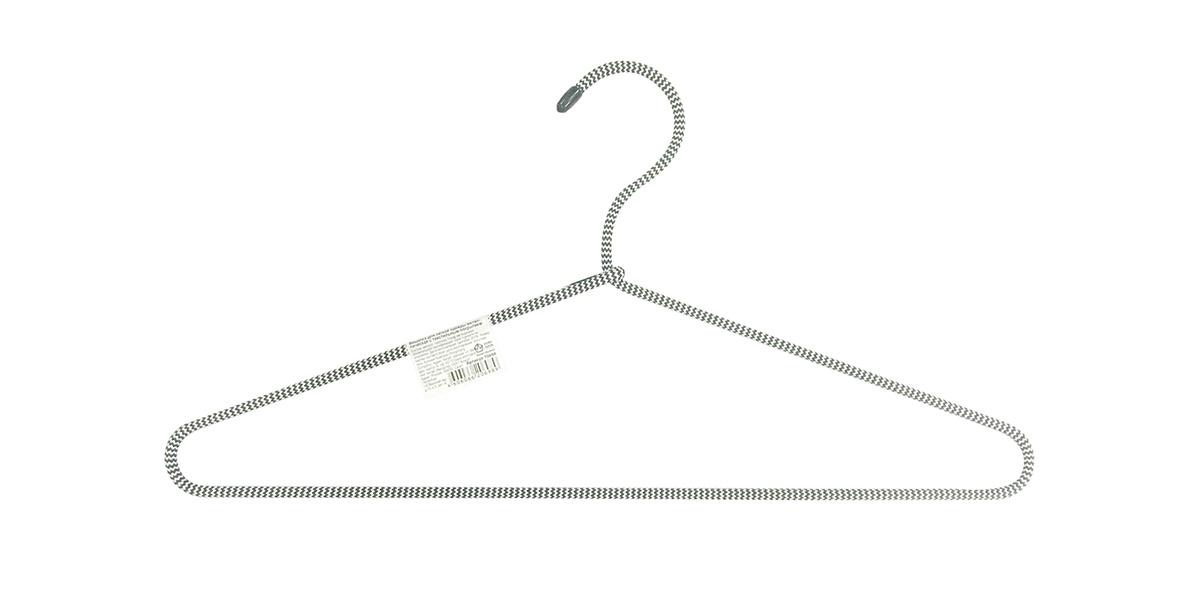 Вешалка для одежды HomeQueen, металлическая, с текстильным покрытием, цвет: серый, длина 40,5 см70698Вешалка для одежды HomeQueen изготовлена из металлас текстильным покрытием, снабжена закругленнымиплечиками.Вешалка - незаменимая вещь для аккуратного храненияодежды. Размер вешалки: 40,5 х 0,7 х 20 см.