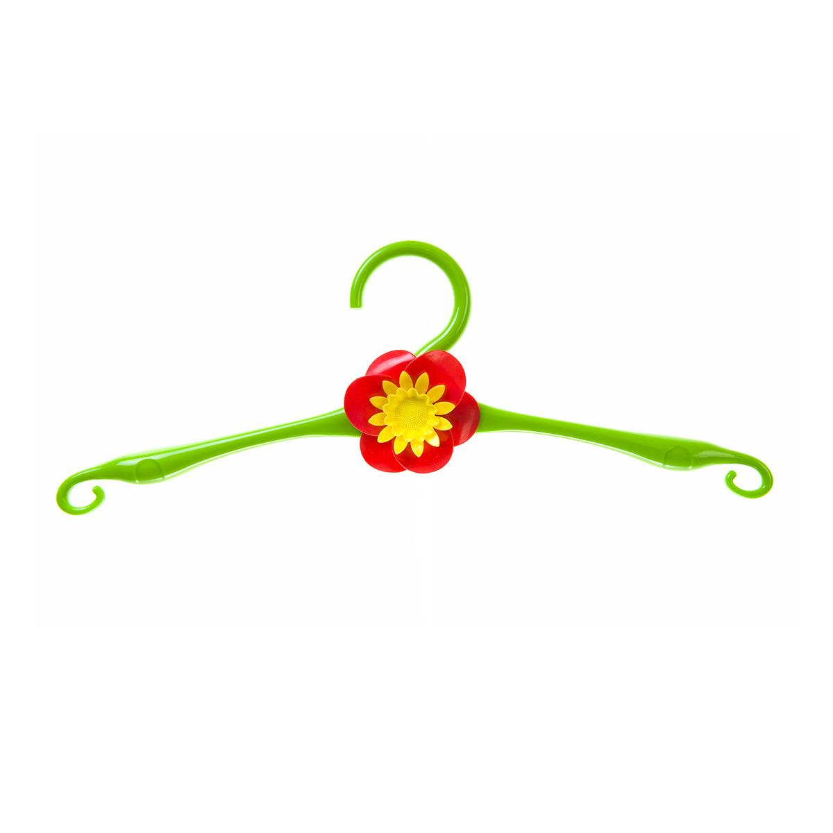 Вешалка HomeQueen, пластиковая, цвет: зеленый, длина 41 см70701Вешалка для одежды HomeQueen, выполненная из пластика, идеально подойдет для разного вида одежды. Она имеет надежный крючок и плечики с крючками по краям. Вешалка оформлена декоративным элементом в виде цветка. Вешалка - это незаменимая вещь для того, чтобы ваша одежда всегда оставалась в хорошем состоянии.Размер вешалки: 41 х 0,25 х 12,8 см.