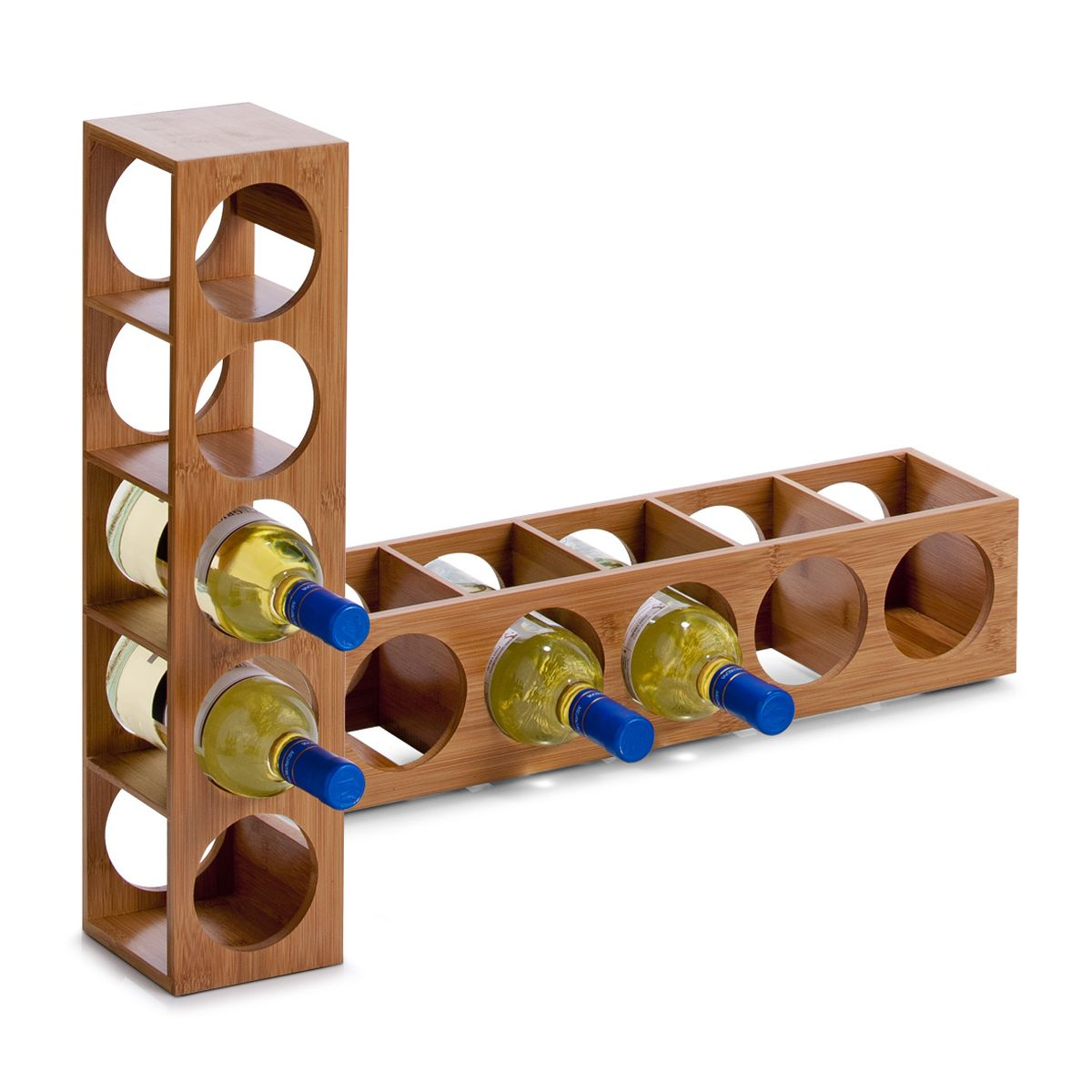 Подставка для бутылок Zeller, 13,5 х 12,5 х 53 см13Подставка для бутылок Zeller служит для размещения 5винных или пивных бутылок. Изготовлена подставка из высококачественной древесины. Устойчивая форма, удобство, надежная конструкция - все это делает подставку надежным и практичным аксессуаром. Кроме того, такая подставка стильно дополнит кухонный интерьер.Диаметр отверстия для бутылки: 9 см.