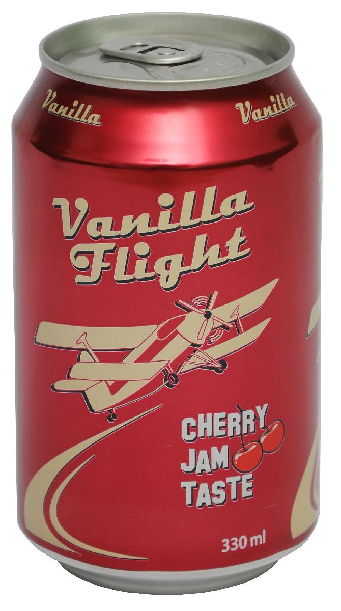 Vanilla Flight Cherry Jam Flavour Напиток безалкогольный сильногазированный, 0,33 л00128900000200Линейка Vanilla Flight представлена в двух вкусах, которые идеально дополняют друг друга. Vanilla Flight Cherry Jam Taste – это классическая вишневая содовая, вкус которой давно любим нашим покупателем.