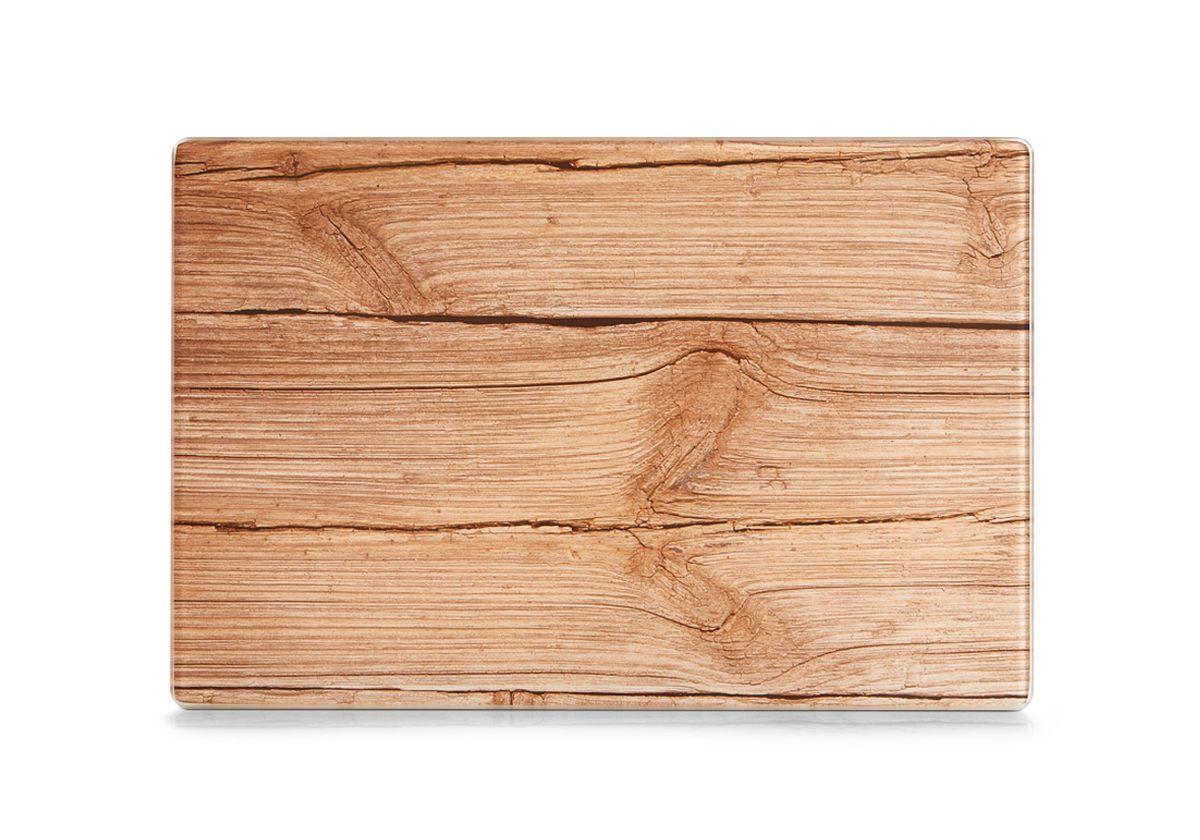 """Разделочная доска """"Zeller"""" изготовлена из жароустойчивого стекла. Изделие, украшенное принтом под дерево, идеально впишется в интерьер современной кухни. Изделие отлично чистится и не впитывает посторонние запахи. Также доску можно применять как подставку под горячее блюдо.  Доска оснащена резиновыми ножками, предотвращающими скольжение по поверхности стола. Разделочная доска """"Zeller"""" украсит ваш стол и сбережет его от воздействия высоких температур ваших кулинарных шедевров."""