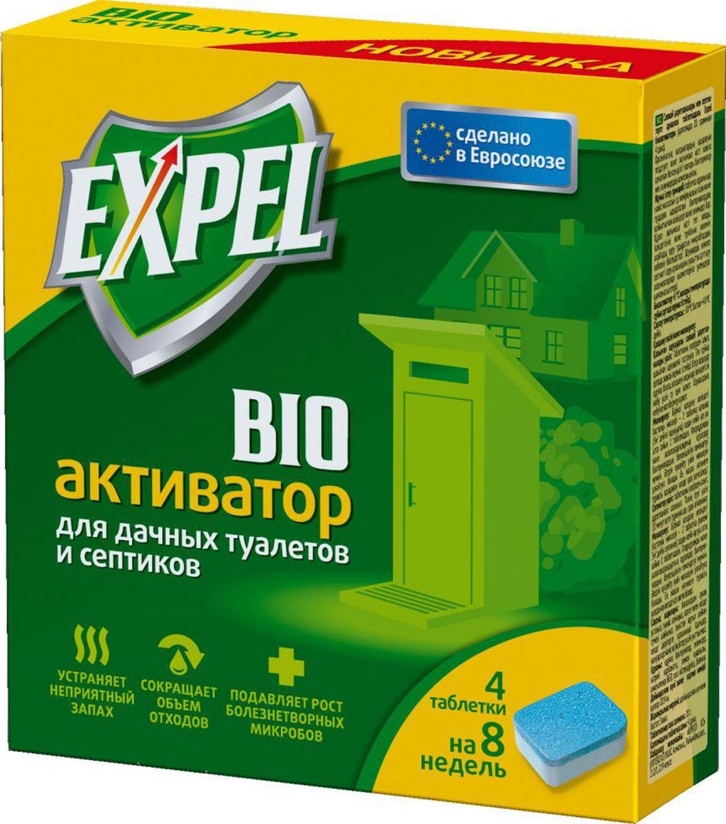 Биоактиватор Expel для дачных туалетов и септиков, 4 таблеткиTT0003Биоактиватор Expel содержит концентрированные культуры бактерий. Которые разлагают фекальные массы на воду, углекислый газ и соли. Средство устраняет неприятный запах, уменьшает объем содержимого и осадка, подавляет рост болезнетворных микробов. Увеличение интервалов между откачками ямы или септика обеспечивает экономию на услугах ассенизатозоров. Способ применения: Для дачных туалетов с выгребной ямой: извлечь таблетку из пленки и бросить в выгребную яму. Биоактиватор эффективно работает только в жидкой среде. Если яма обезвожена, необходимо добавить воды для покрытия содержимого. Не допускать высыхания ямы.Для септиков: извлечь таблетку из пленки и бросить в унитаз. Подождать 10 минут для полного растворения и спустить воду.Дозировка: стартовая доза при первом применении - 2 таблетки (на яму или септик до 3 м3), затем по 1 таблетке каждые 2 недели.Уважаемые клиенты! Обращаем ваше внимание на возможные изменения в дизайне упаковки. Качественные характеристики товара остаются неизменными. Поставка осуществляется в зависимости от наличия на складе.