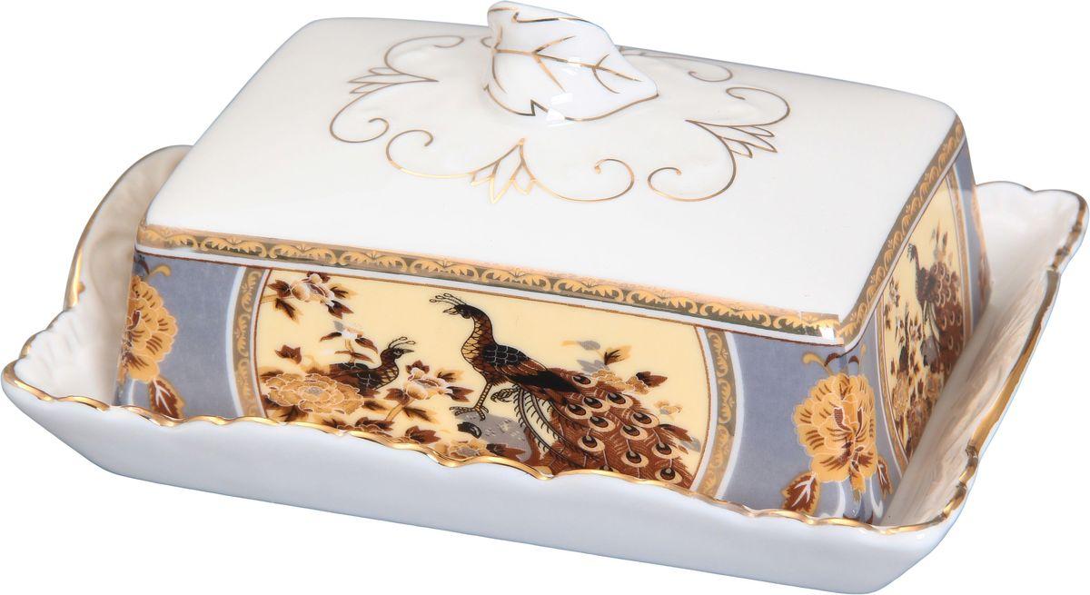 Масленка Elan Gallery Павлин на бежевом масленки elan gallery масленка бабочка павлин на золоте