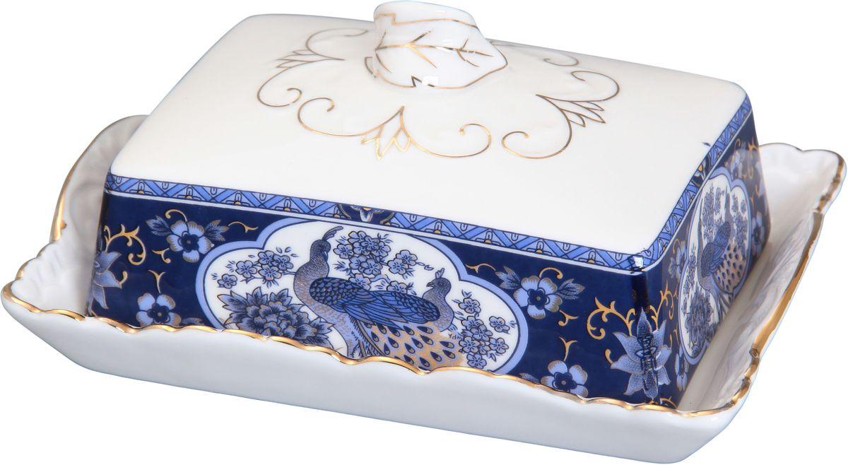 Масленка Elan Gallery Павлин синий, 16 х 11,5 х 7 см180426