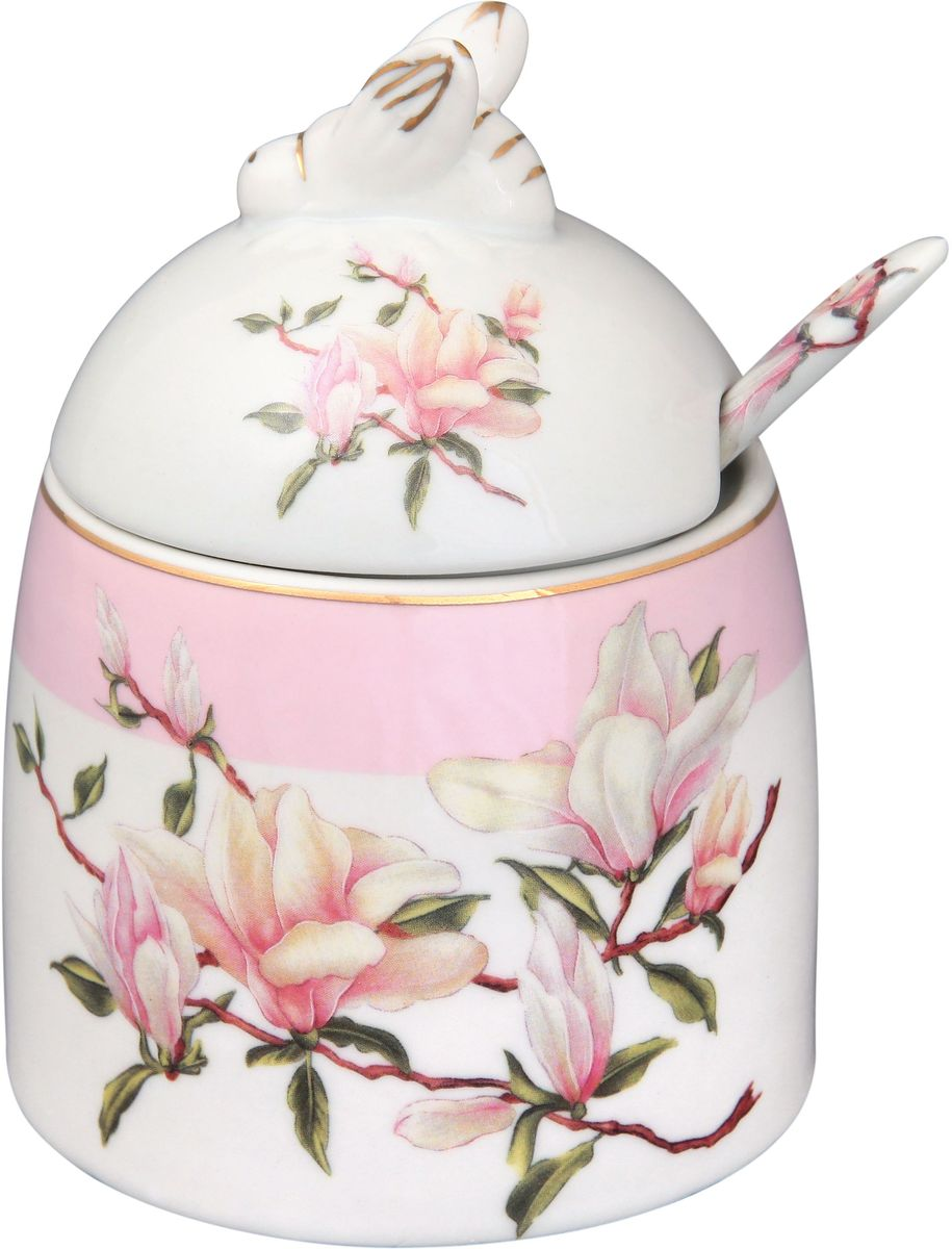 Горшочек для меда Elan Gallery Орхидея, с ложкой, 300 мл180441Горшочек для меда - удобный предмет для хранения любимого лакомства в оригинальном исполнении. Дополнит облик вашей кухни и прекрасно впишется в интерьер. Станет отличным подарком для любой хозяйки.Данная модель будет замечательной покупкой или подарком другу. Эта емкость марки Elan Gallery превосходно подойдет под ваш имидж и преподнесет вас в хорошем свете и на светских раутах и на отдыхе. Размер горшочка: 11,5 х 9 см.Объем горшочка: 300 мл.