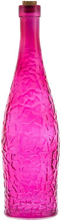 Бутылка для масла или уксуса Elan Gallery, с пробкой, цвет: фуксия, 700 мл wine tools винный набор 5 пр бутылка глянцевая с красной пробкой