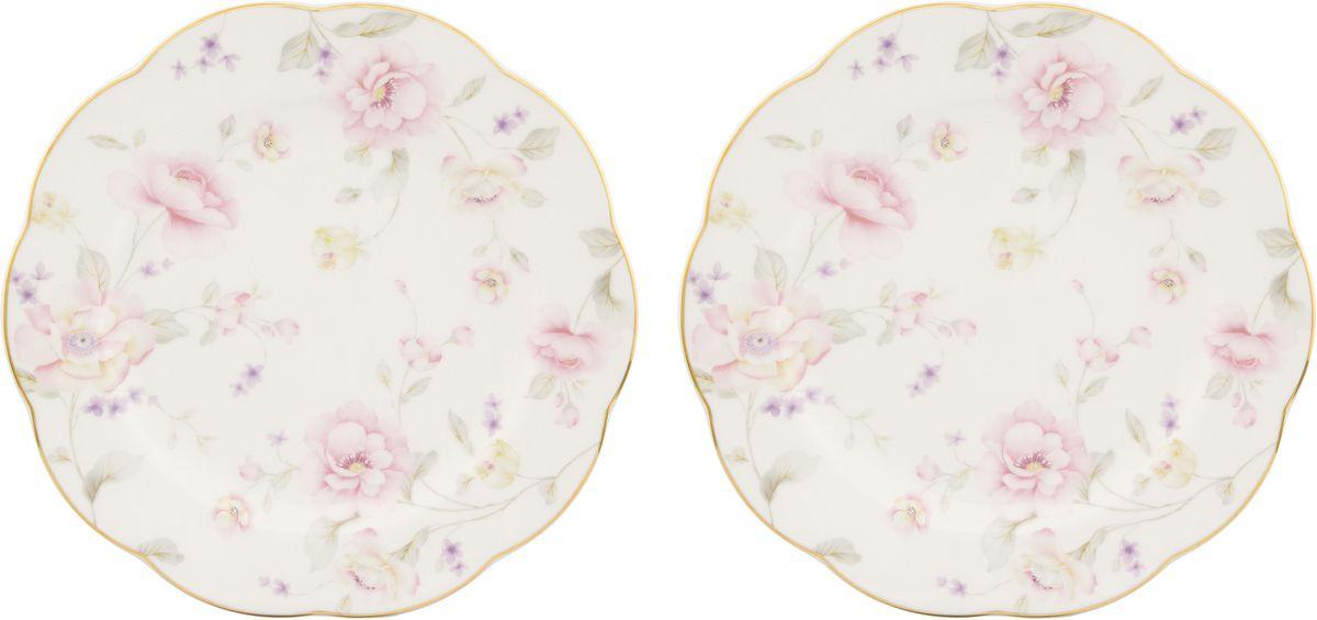 Набор тарелок для десертов Elan Gallery Жизель, диаметр: 20 см, 2 шт530065У Вас намечается небольшое торжество - используйте набор из 2 тарелок для десертов. Они не займут много места на столе. Тарелки из серии Жизель станут украшением Вашего стола. Изделие имеет подарочную упаковку.Диаметр тарелок: 20 см.