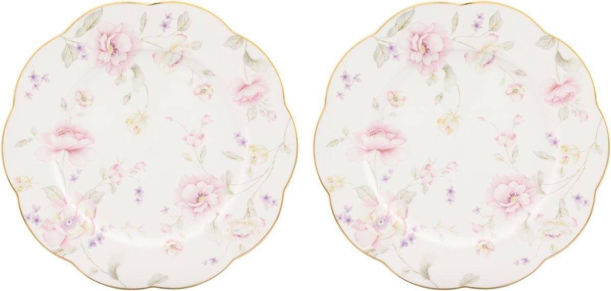 Набор обеденных тарелок Elan Gallery Жизель, диаметр: 26,5 см, 2 шт530066У Вас намечается небольшое торжество - используйте набор из 2 обеденных тарелок. Они не займут много места на столе. Тарелки из серии Жизель станут украшением Вашего стола. Изделие имеет подарочную упаковку.Диаметр тарелки: 26,5 см.