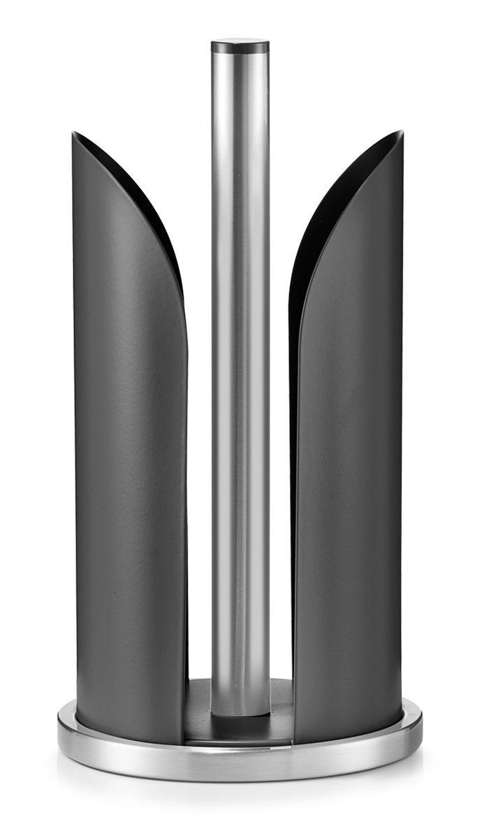 Держатель для бумажных полотенец Zeller, цвет: черный, стальной, высота 30,5 см27217Держатель для бумажных полотенец Zeller изготовлен из высококачественного металла. Круглое основание держателя гарантирует устойчивость. Рулоны накладываются сверху. Вы можете установить его в любом удобном месте. Такой держатель станет полезным аксессуаром в домашнем быту и идеально впишется в интерьер современной кухни. Рулон в комплект не входит.Высота держателя: 30,5 см.Диаметр основания: 15 см.