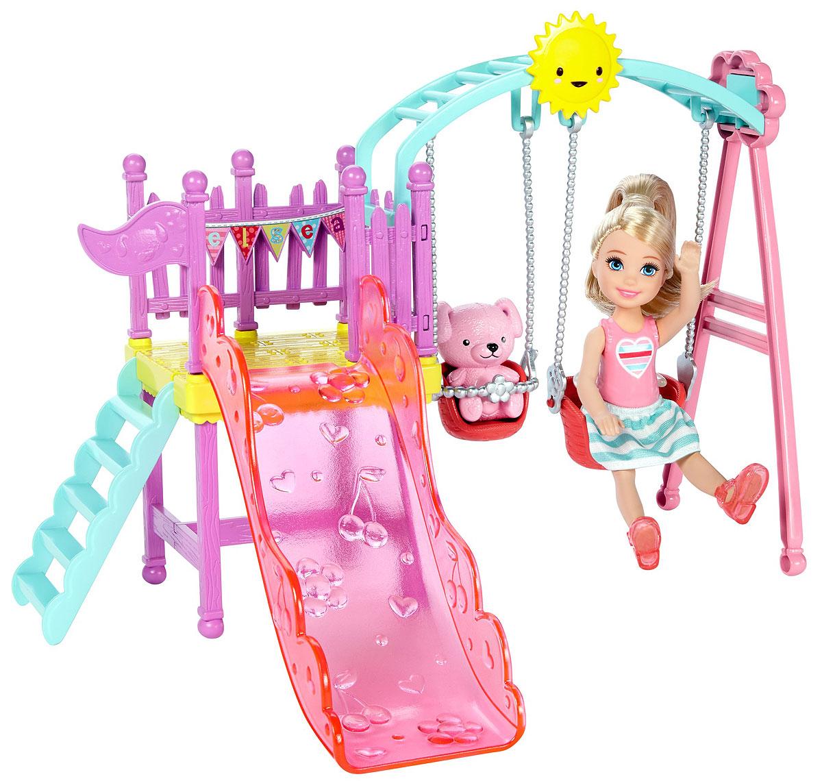 Barbie Игровой набор с мини-куклой Качели товары для минисада bloomits качели для мини сада