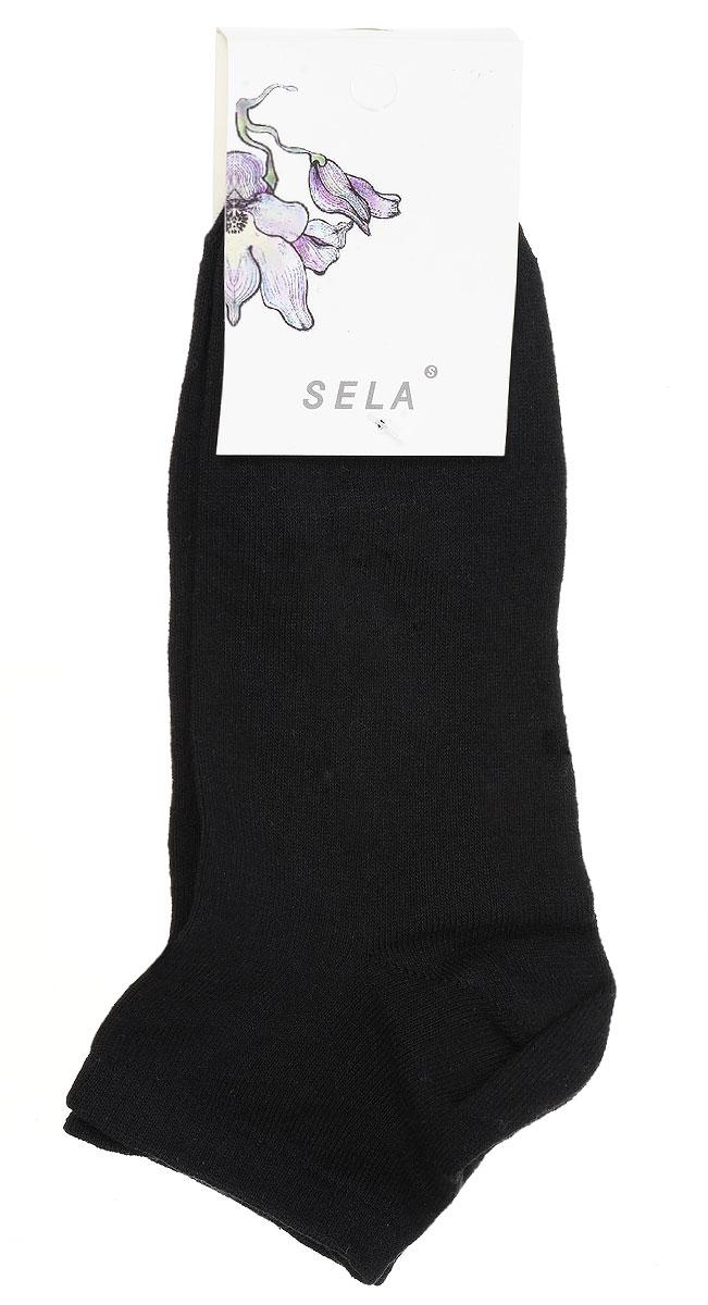 Носки женские Sela, цвет: черный. SOb-154/047-7101. Размер 19/21SOb-154/047-7101Удобные женские носки Sela, изготовленные из высококачественного материала. Благодаря содержанию мягкого хлопка в составе, кожа сможет дышать, а эластан позволяет носкам легко тянуться, что делает их комфортными в носке. Эластичная резинка плотно облегает ногу, не сдавливая ее, обеспечивая комфорт и удобство.Уважаемые клиенты!Размер, доступный для заказа, является длиной стопы.