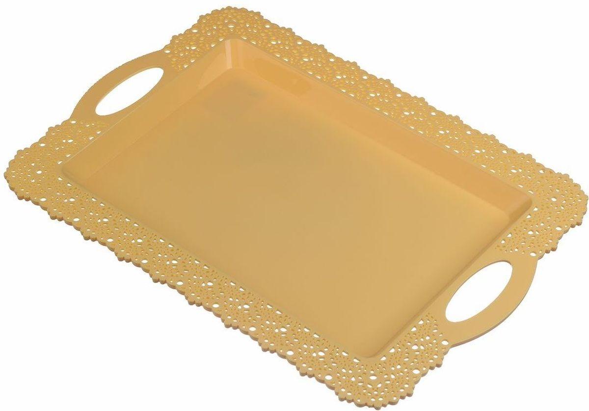 Поднос Idea Ажур, цвет: желтый, 30,5 х 43 смМ 1114Прямоугольный поднос Idea Ажур, изготовленный извысококачественного полипропилена, оснащен невысокимибортиками и ручками, благодаря которым его удобнопереносить. Изделие можно использовать как для сервировкистола, так и для декора кухни.Поднос Idea Ажур прекрасно дополнит любой интерьер идобавит в обычную обстановку нотки романтики и изящества.