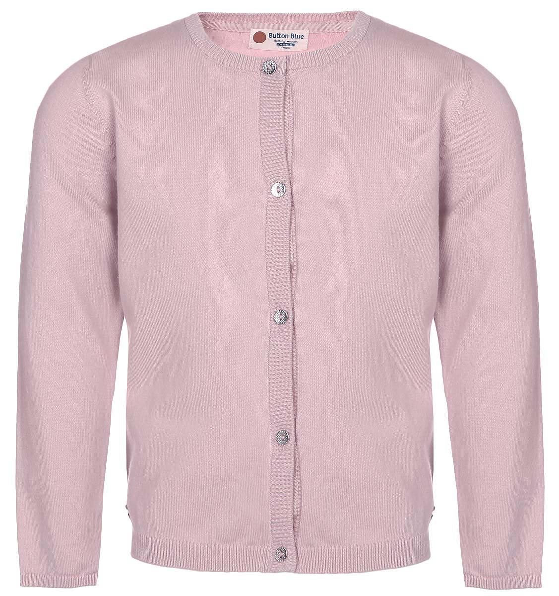Кардиган для девочки Button Blue, цвет: розовый. 216BBGC35021200. Размер 98, 3 года шапка button blue button blue bu019cgwue64