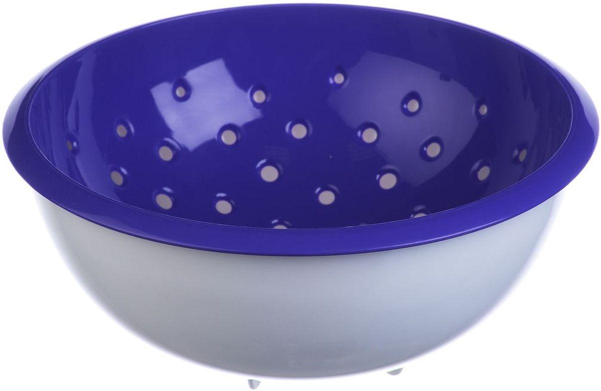 Дуршлаг Idea, с миской, цвет: фиолетовый, 2 л ковш idea 1 л фиолетовый