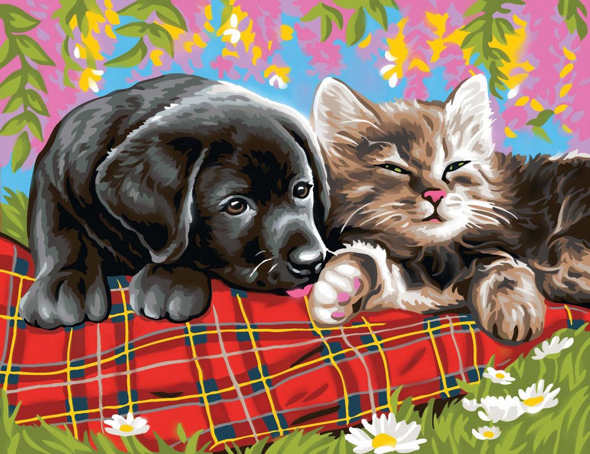 рисунки маленьких щенят и котят