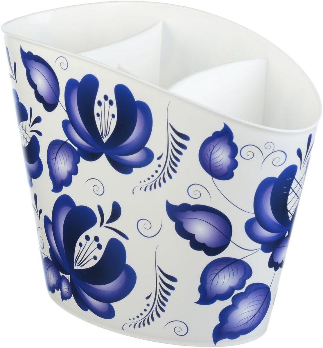 Сушилка для для столовых приборов Idea Деко. Гжель крышка для свч idea деко гжель диаметр 24 5 см