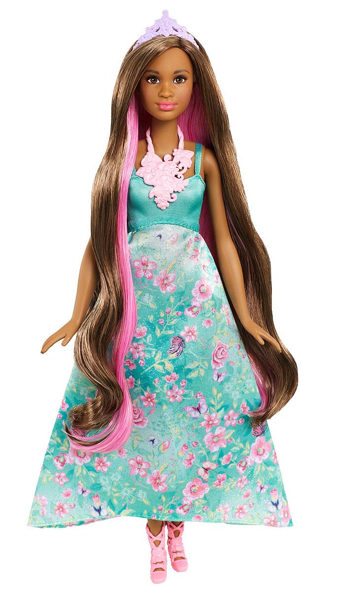 Barbie Кукла Принцесса с волшебными волосами цвет платья бирюзовый куклы barbie куклы принцессы с длинными волосами