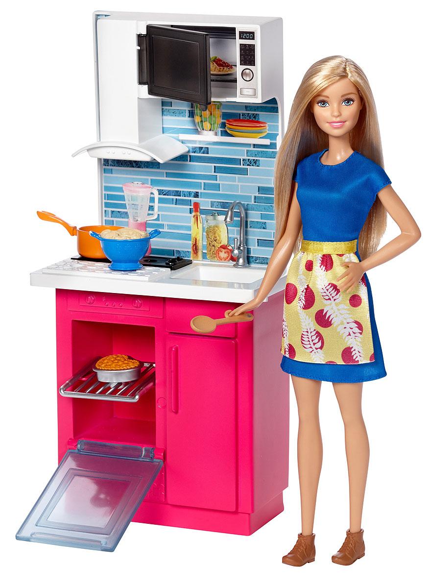 Barbie Кукла с набором мебели Кухня аксессуары для кукол barbie одежда весна