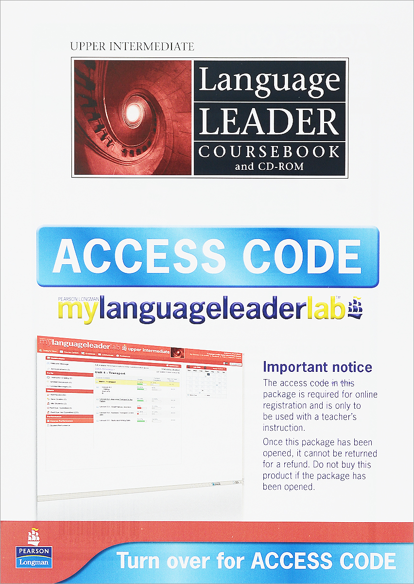 Language Leader: Upper Intermediate: Coursebook (+ CD-ROM and Access Code) davies paul a falla tim solutions 2nd edition upper intermediate workbook with cd rom
