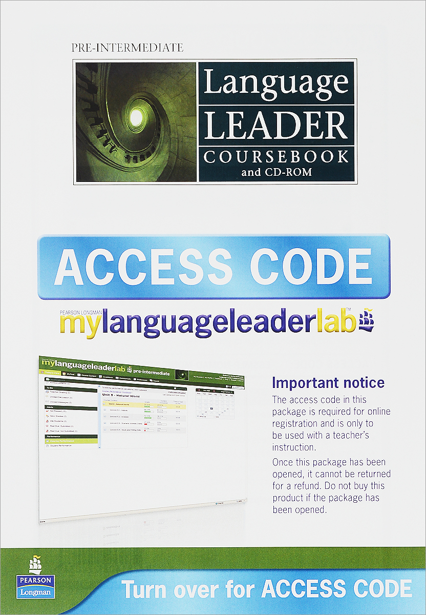Language Leader: Pre-Intermediate: Coursebook (+ CD-ROM and Access Code) evans v dooley j enterprise plus grammar pre intermediate