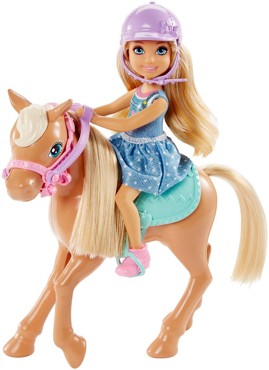Barbie Игровой набор с мини-куклой Челси и пони DYL42