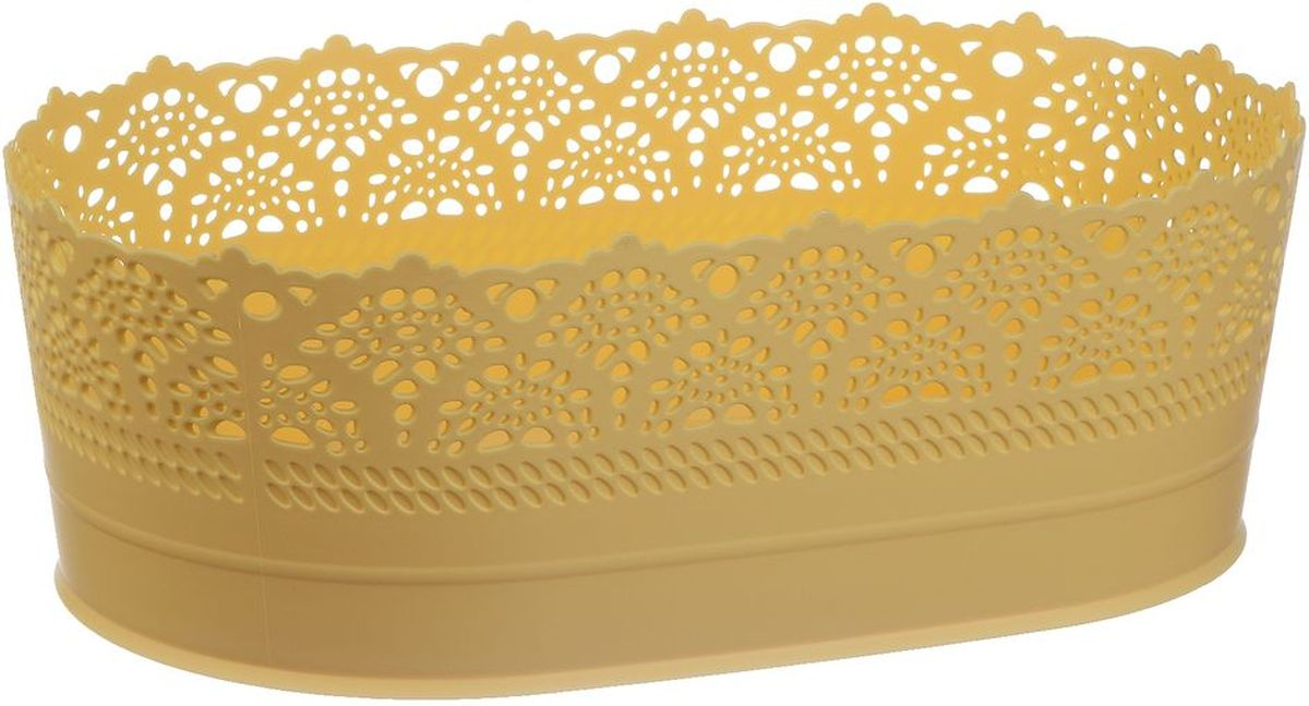 Сухарница Idea Ажур, цвет: желтый, длина 22 смМ 1190Оригинальная сухарница Idea Ажур, выполненная из пластика, послужит приятным и полезным сувениром для близких и знакомых и, несомненно, доставит массу положительных эмоций своему обладателю.Длина: 22 см.