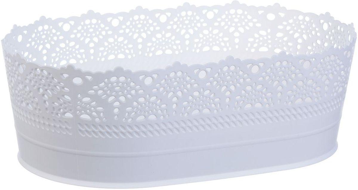 Сухарница Idea Ажур, цвет: белый, длина 22 смМ 1190Оригинальная сухарница Idea Ажур, выполненная из пластика, послужит приятным и полезным сувениром для близких и знакомых и, несомненно, доставит массу положительных эмоций своему обладателю.Длина: 22 см.