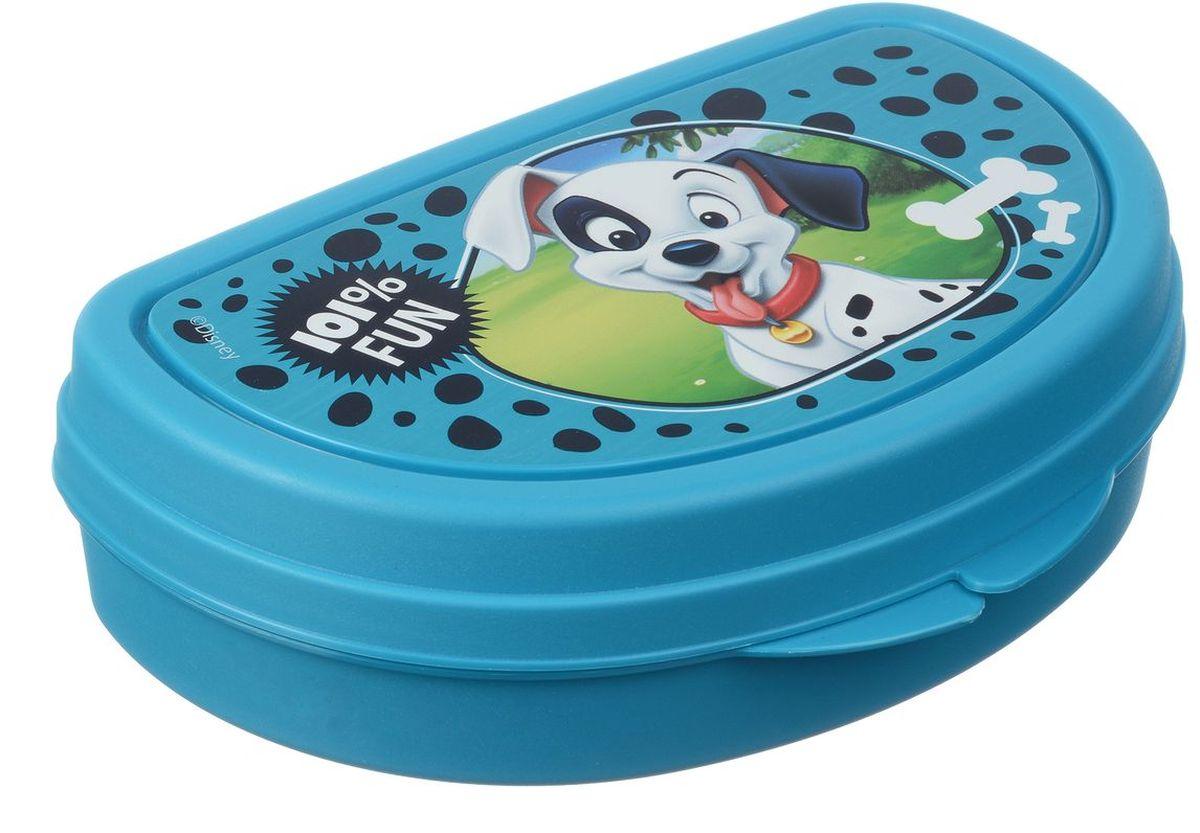 Бутербродница Idea Disney. Далматинцы, 14,5 х 10 х 4 смМ 1201-ДБутербродница Idea Disney. Далматинцы выполнена из высококачественного пищевого пластика, что очень удобно и безопасно для детей, так как пластик не бьется. Крышка оформлена изображением главного героя одноименного мультфильма. Крышка плотно закрывается, благодаря чему пища дольше остается свежей и вкусной. Такая бутербродница позволит перекусить любимым домашним бутербродом где угодно: в школе, в походе, поездке, на пикнике. Не занимает много места и легко помещается в любую сумку. Нельзя использовать в СВЧ и мыть в посудомоечной машине.