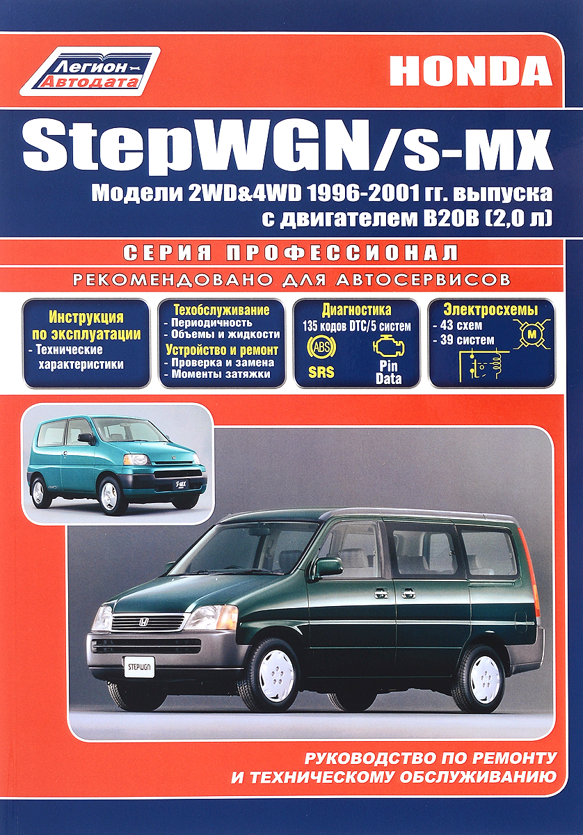 Honda StepWGN / S-MX. Модели 2WD & 4WD с 1996-2001 гг. выпуска. Устройство, техническое обслуживание и ремонт мицубиси галант 1996 акпп купить