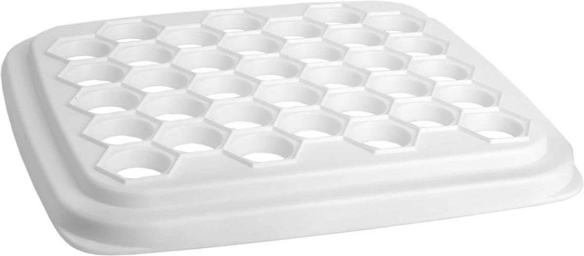Форма для пельменей Idea, цвет: белыйМ 1205Форма для пельменей Idea, выполненная из полистирола, предназначена для быстрого и легкого приготовления пельменей. Использовать форму очень просто: раскатайте тесто, положите на форму первый слой раскатанного теста, разложите кусочки мяса, слегка утопив их в ячейках, накройте вторым слоем теста и пройдитесь скалкой, пельмени слеплены и отделены от формы. Форма для пельменей Idea - это функциональное и необходимое в каждом доме приспособление. С ним готовка и лепка займет намного меньше времени, а пельмени получатся идеально ровной формы. Размер формы: 25,5 см х 28,5 см х 3 см. Диаметр ячейки для пельменей: 3 см.