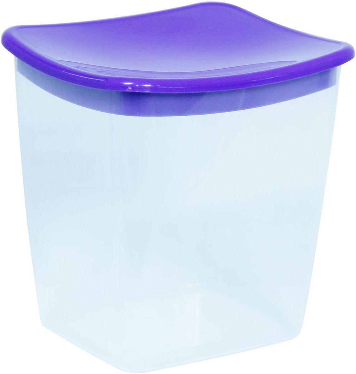 Емкость для сыпучих продуктов Idea, квадратная, цвет: фиолетовый, 1 л емкость для сыпучих продуктов idea деко орхидея 1 9 л