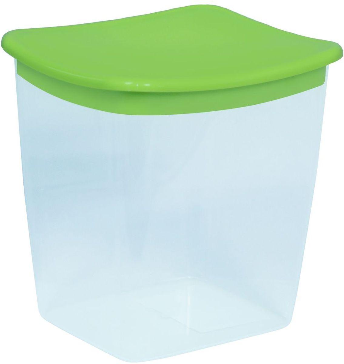 Емкость для сыпучих продуктов Idea, квадратная, цвет: салатовый, 1 л ковш idea деко розы 1 5 л