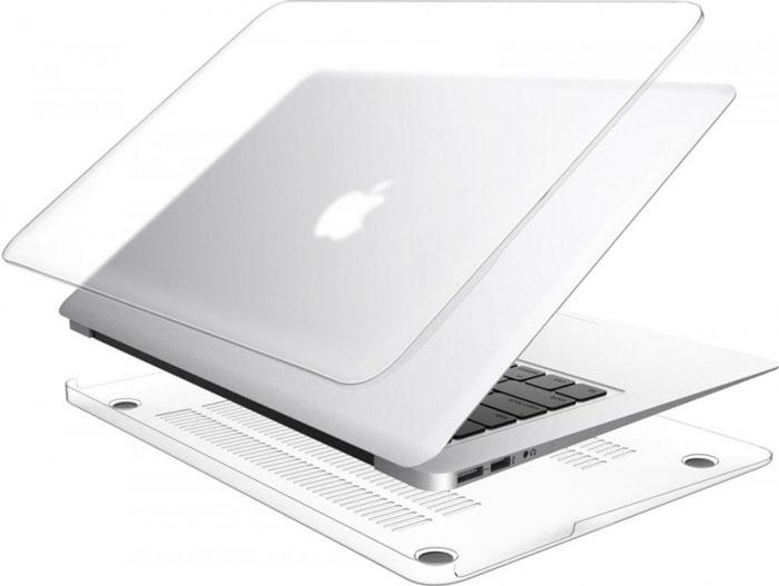 LAB.C Hard Case чехол для Apple MacBook Air 11, Matt ClearLABC-445Защитите свой MacBook с помощью лёгкого облегающего чехла LAB.C Hard Case. Он обеспечивает полную защиту, не закрывая доступ к разъёмам, индикаторам и кнопкам. Благодаря прорезиненным ножкам ноутбук хорошо зафиксирован на месте и не нагревается. Имеет вентиляционные отверстия для отвода тепловыделения.
