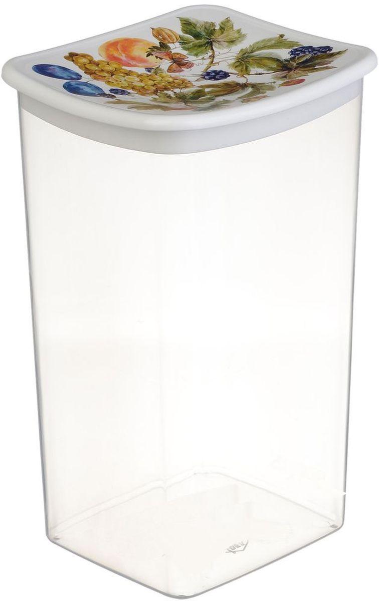 Емкость для сыпучих продуктов Idea Деко. Фрукты, 1,9 лМ 1227Емкость Idea Деко. Фрукты выполнена из пищевого полипропилена и предназначена для хранения сыпучих продуктов. Не содержит Бисфенол A. Изделие оснащено плотно закрывающейся крышкой, благодаря которой продукты дольше остаются свежими.