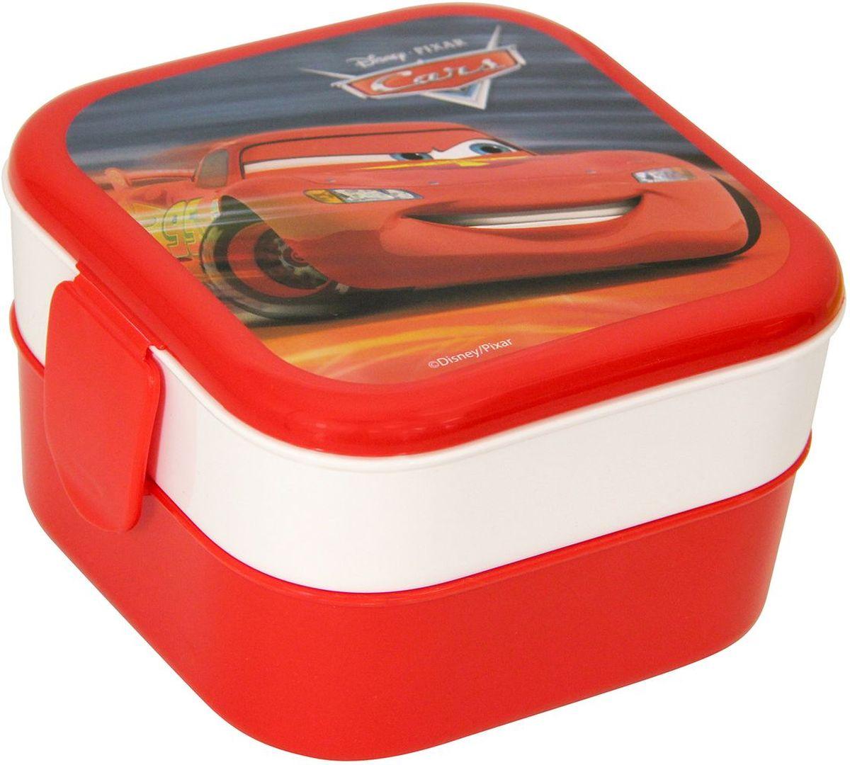 Контейнер Idea Disney. Тачки, 2 секции, цвет: красный контейнер для хранения idea океаник цвет голубой 20 л