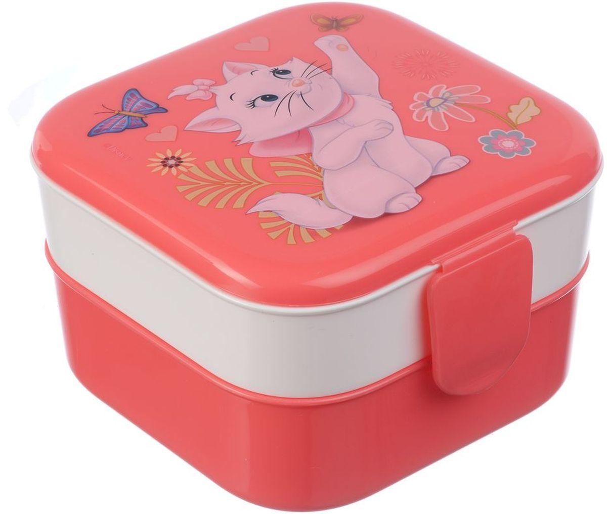 Контейнер Idea Disney. Мари, 2 секции, цвет: коралловый контейнер для хранения idea океаник цвет голубой 20 л