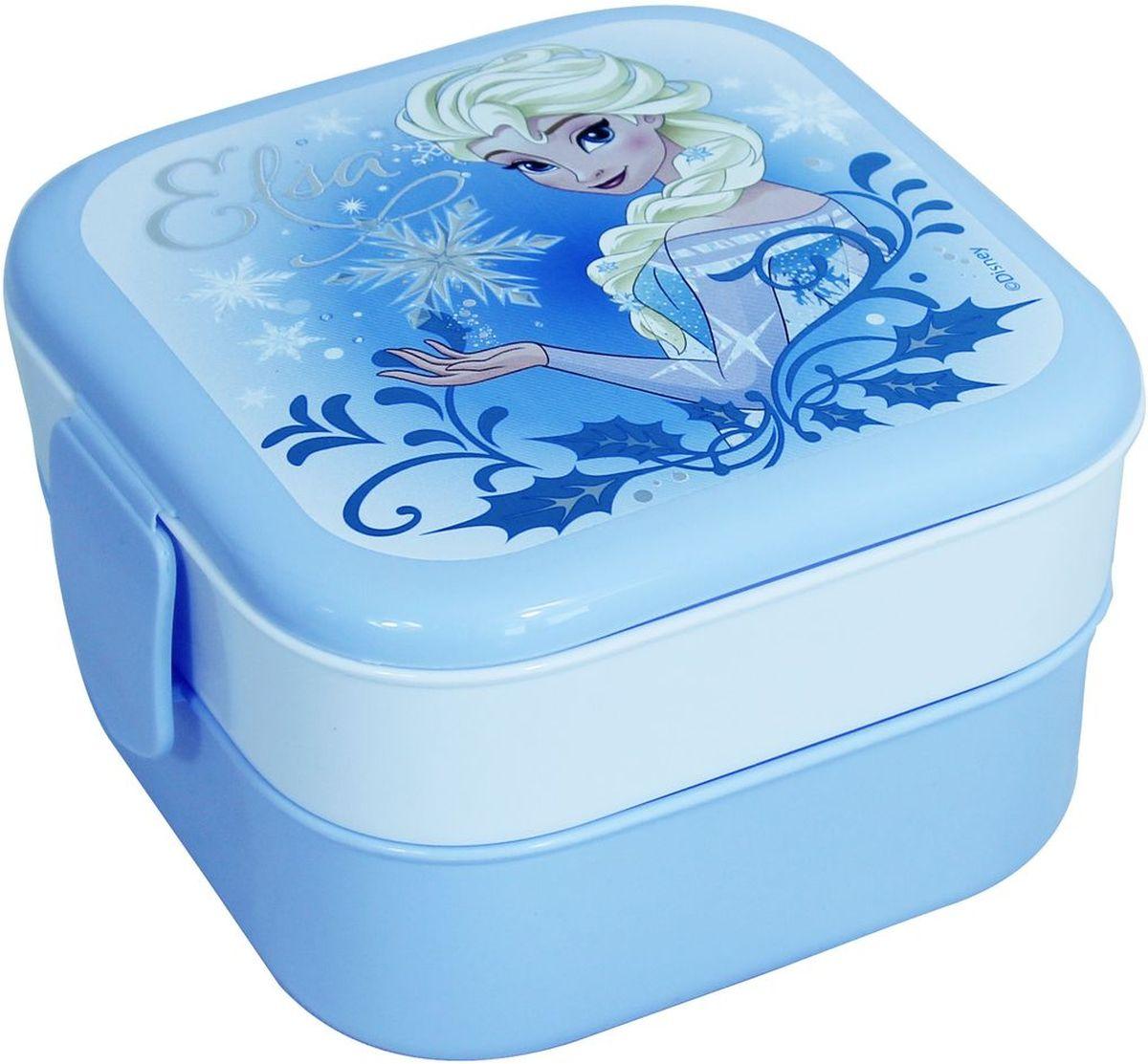 Контейнер Idea Disney. Холодное сердце, 2 секции, цвет: голубойМ 1232-ДКонтейнер Idea Disney изготовлен из высококачественного пластика, предназначен для хранения продуктов. Изделие декорировано ярким рисунком. Контейнер легко открывается, оснащен двумя съемными отделениями и клапаном на крышке. Контейнер - отличное решение для хранения продуктов.Размер контейнера: 12 см х 12 см х 8 см. Объем секции: 0,4 л.