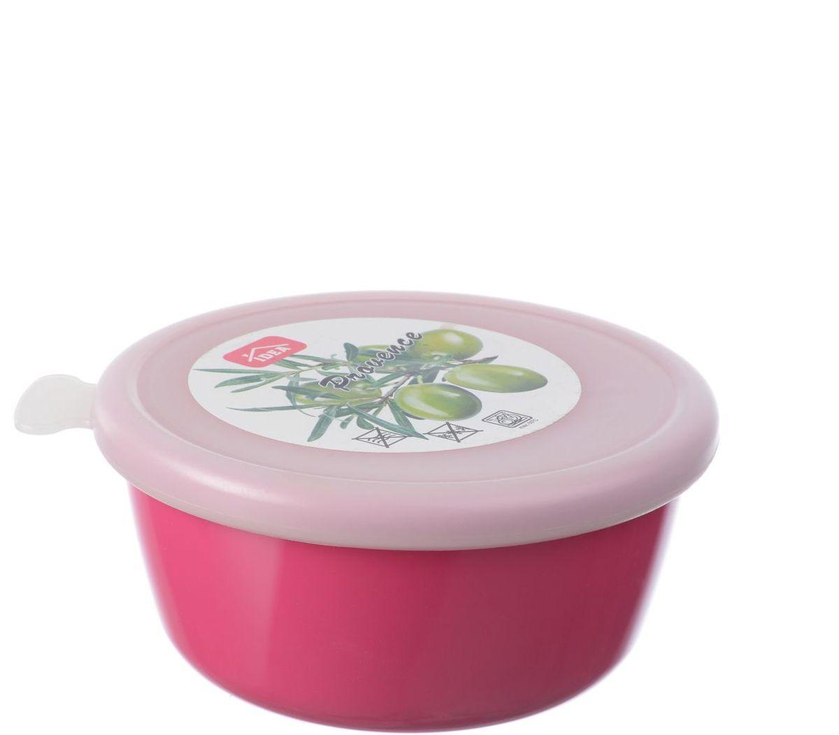 Миска Idea Прованс, с крышкой, цвет: малиновый, 350 млМ 1380Миска круглой формы Idea Прованс изготовлена из высококачественного пищевого пластика. Изделие очень функциональное, оно пригодится на кухне для самых разнообразных нужд: в качестве салатника, миски, тарелки. Герметичная крышка обеспечивает продуктам долгий срок хранения.Диаметр миски: 11,5 см.Высота миски: 5,5 см.