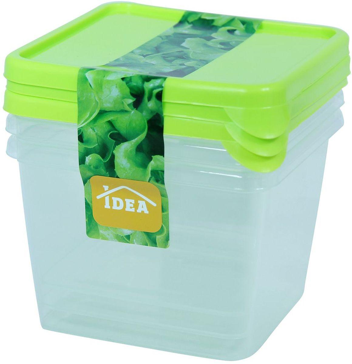 """Набор """"Idea"""" состоит из 3 контейнеров, выполненных из высококачественного  пластика. Изделия идеально подходят для хранения различных продуктов.   Набор контейнеров """"Idea"""" можно мыть в посудомоечной машине. Можно  использовать в  микроволной печи и холодильнике."""