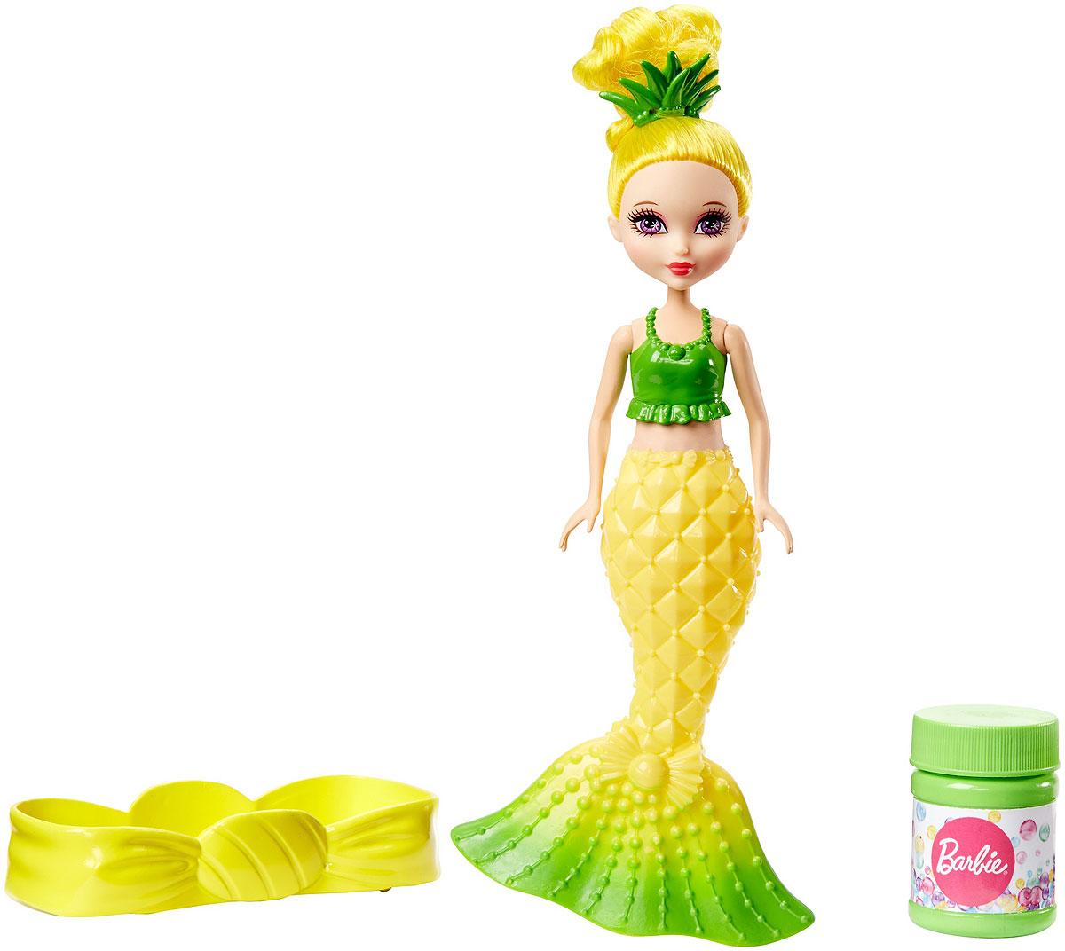 Barbie Мини-кукла Русалочка Ананас с мыльными пузырьками кукла barbie мини русалочка розовая cjd19