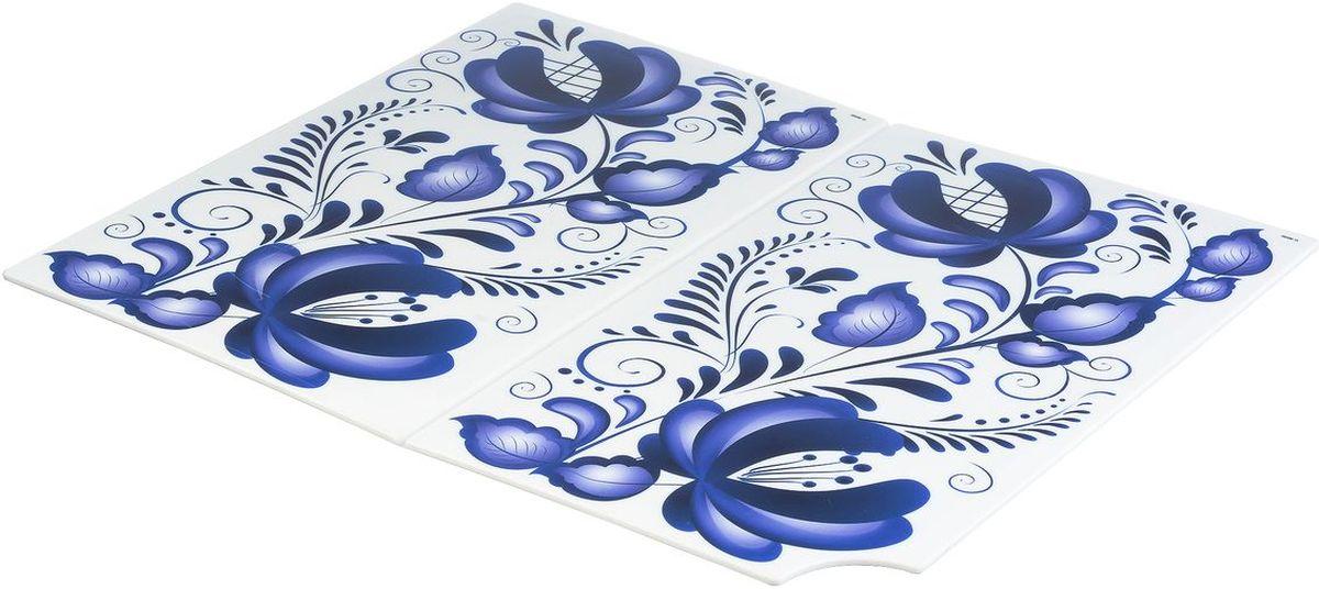 Доска разделочная Idea Деко. Гжель, складная, 35 х 28 см доска разделочная idea голубые цветы 24 см х 15 см