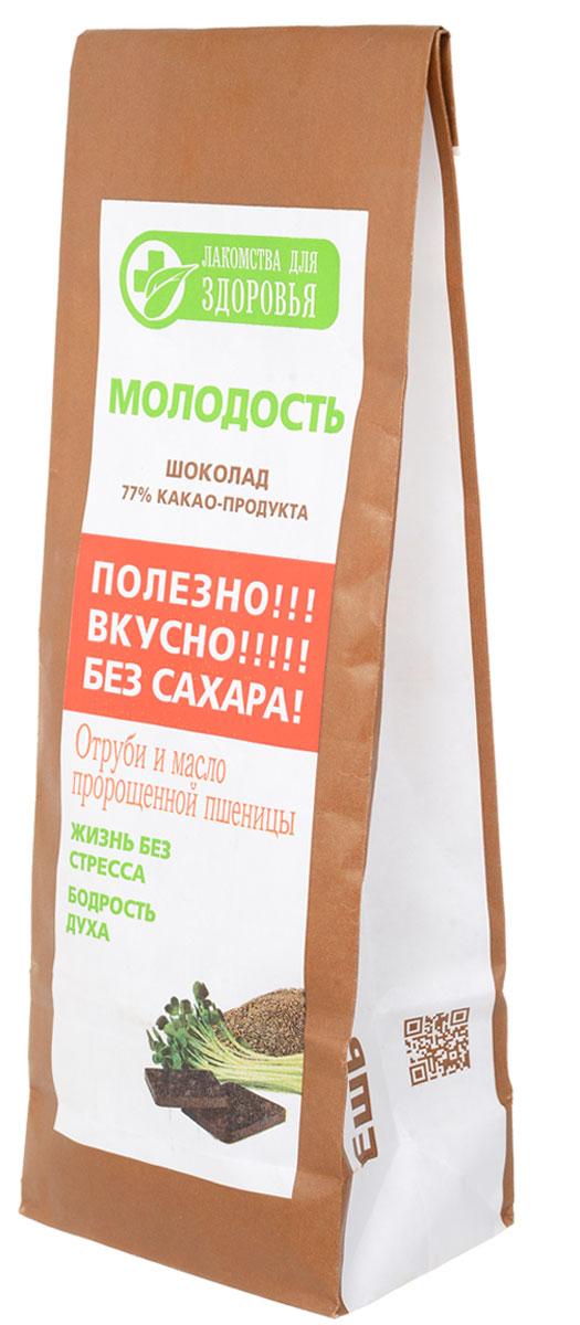 Лакомства для здоровья Молодость шоколад горький с отрубями и маслом зародышей пшеницы, 100 г лакомства для здоровья шоколад горький с кунжутом 100г