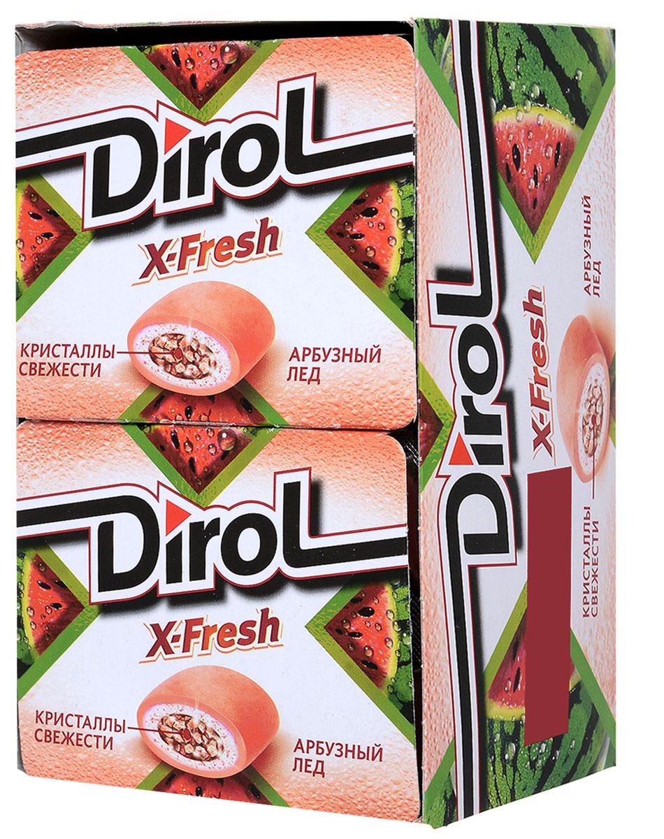 Dirol X-Fresh Жевательная резинка Арбузный лед без сахара, 12 пачек по 16 г645703Dirol X-Fresh Арбузный лед - это жевательная резинка для молодых и активных людей, которая не только освежает дыхание и мысли, но и придает уверенности в себе, наполняет жизнь позитивом, яркими эмоциями и впечатлениями. Какую бы жевательную резинку Dirol вы ни выбрали, ее невероятно сочный и восхитительно долгий вкус подарит вам улыбку, яркие эмоции, вдохновит на свежие идеи. Широкий ассортимент фруктовых и мятных вкусов Dirol позволяет каждому найти жевательную резинку по вкусу.Общеизвестно, что древние греки использовали смолу мастичного дерева или пчелиный воск, чтобы освежить дыхание и очистить зубы от остатков еды. Племена Майя наслаждались жеванием каучука. На севере Америки индейцы наслаждались подобием жевательной резинки - смолы хвойных деревьев, предварительно выпаренной на костре. В Сибири пользовалась популярностью сибирская смолка, с её помощью чистили зубы и укрепляли десны. В Европе зарождение жевательной «культуры» обозначено в 16 веке благодаря завезенному из Вест-Индии табаку. Затем «жвачка» появилась в Соединенных Штатах. Вплоть до 19 века попытки внедрить воск, парафин вместо жевательного табака терпели крах. Содержит источник фенилаланина. При чрезмерном употреблении может оказывать слабительное действие.Уважаемые клиенты! Обращаем ваше внимание, что полный перечень состава продукта представлен на дополнительном изображении.