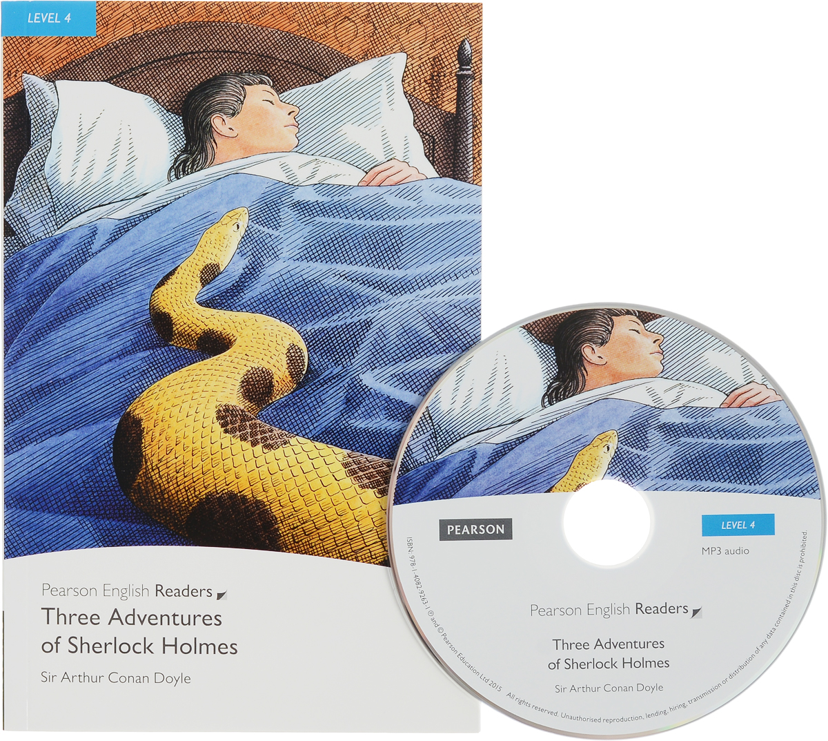 Three Adventures of Sherlock Holmes: Level 4 (+ CD) detective work level 4