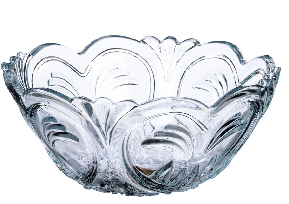 Салатник Isfahan Кокаб, диаметр 23 см, 1,75 лIG688Посуда из иранского боросиликатного стекла - новый тренд на рынке посуды. Она легче хрусталя, но при этом выглядит достаточно хрустально: те же грани, узоры, преломление света, блики, прозрачность, плавность краев и устойчивость дна. Стеклянная посуда требует определенного ухода. Чтобы сохранить первоначальный блеск, лучше всего воспользоваться следующим способом: посуду необходимо протереть солью либо добавить соль или уксус прямо в воду, а затем помыть посуду водой с мылом и ополоснуть холодной или теплой водой. Чтобы быстро высушить посуду, ее надо ополоснуть в теплой воде, а затем насухо вытереть чистым льняным полотенцем. Посуду из иранского стекла можно мыть в посудомоечной машине.