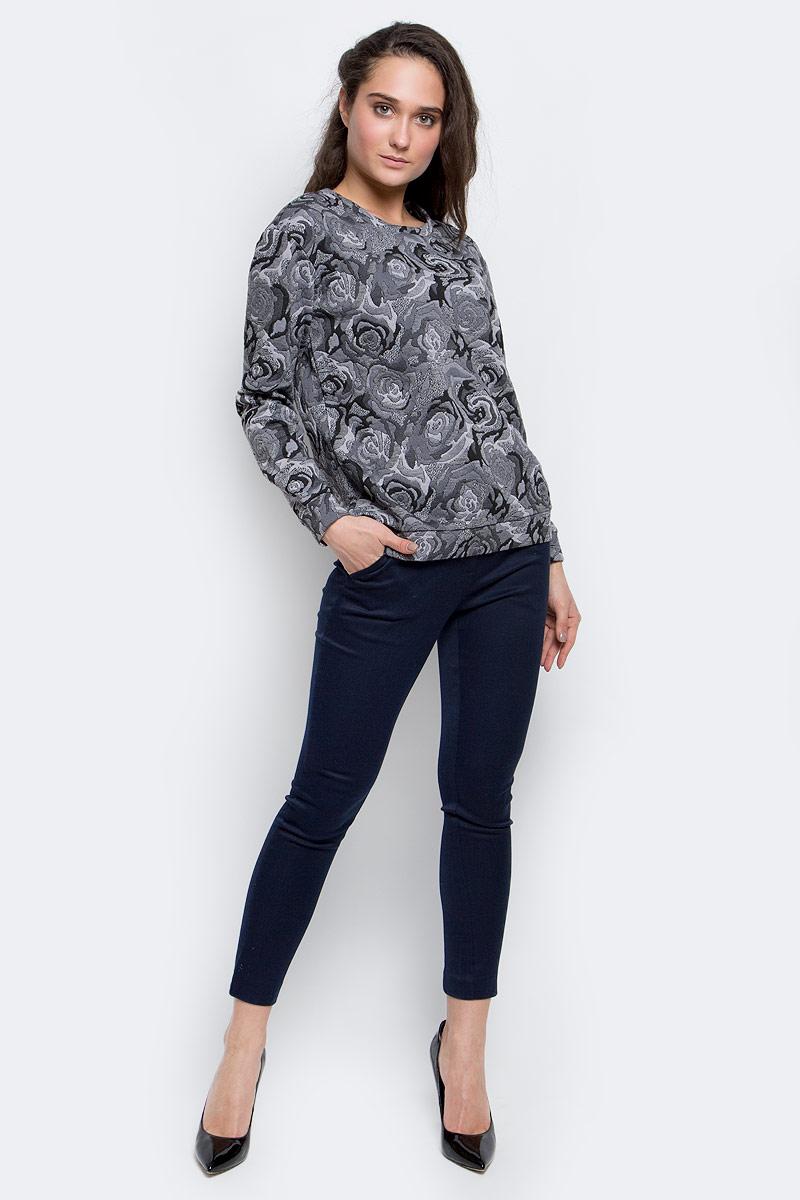 все цены на  Свитшот женский Sela Collection, цвет: серый. St-113/1091-6343. Размер XS (42)  онлайн