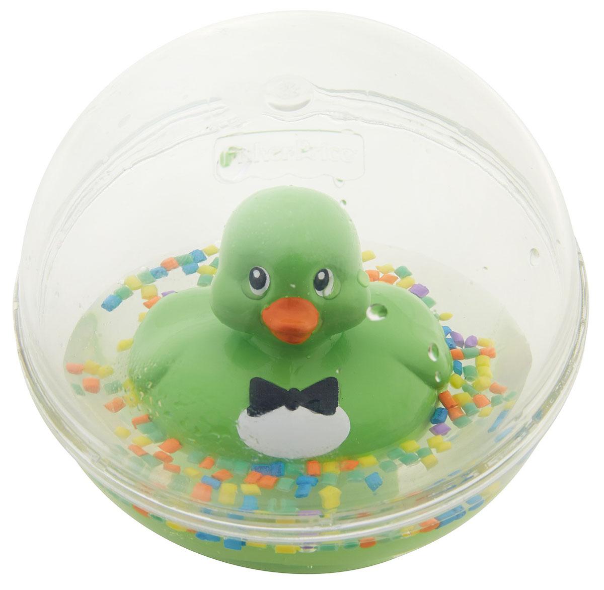 Fisher-Price Развивающая игрушка Уточка цвет зеленый развивающая игрушка fisher price мягкая книжка в ассортименте