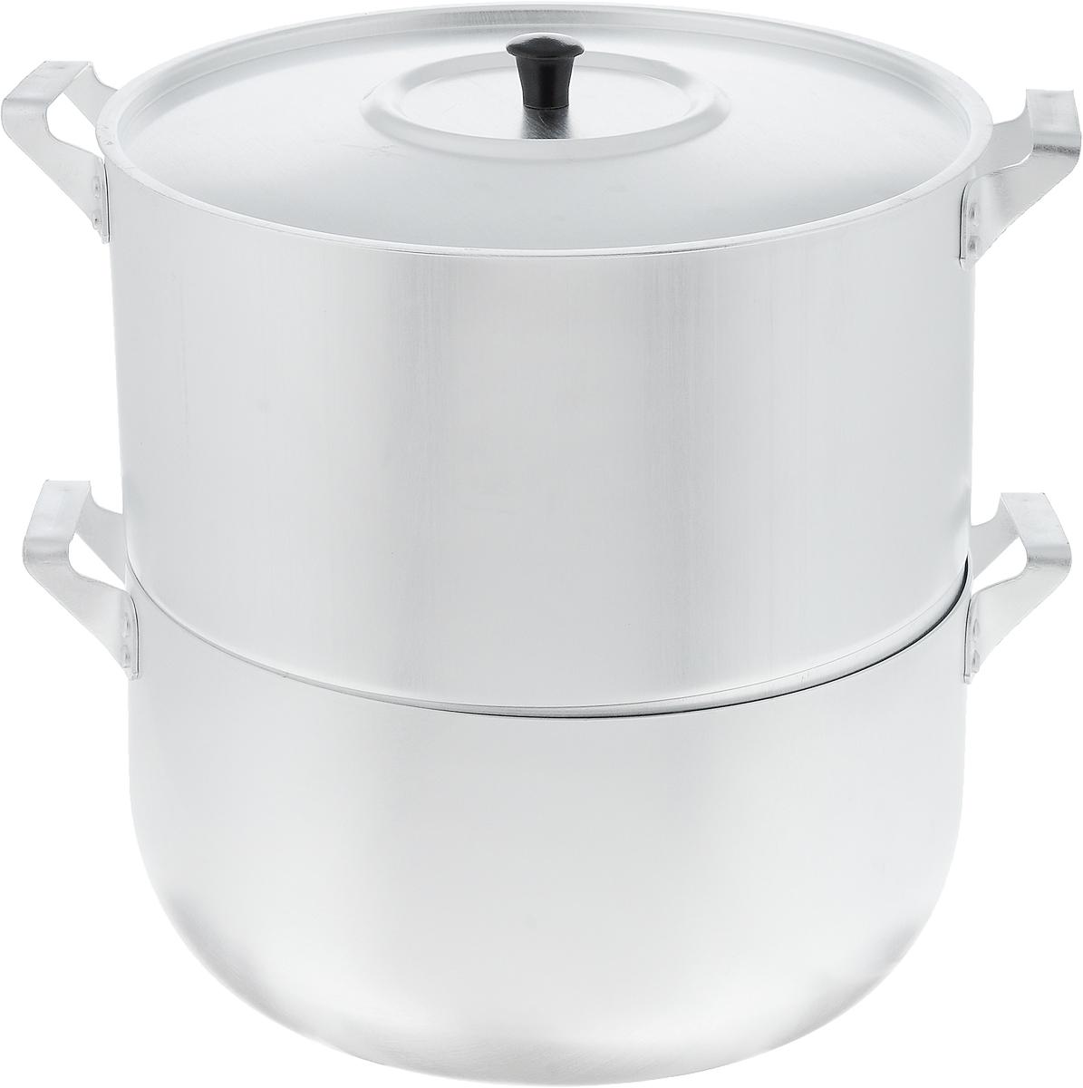 Мантоварка Scovo с крышкой, 4 яруса, 6 лМТ-040Мантоварка Scovo изготовлена из высококачественного алюминия, что делает посуду износостойкой, прочной и практичной. Глубина уровней изделия, диаметр отверстий и объем специально предназначены для приготовления мантов. В мантоварке также можно готовить и другие блюда: овощи, котлеты или пельмени. Готовить на пару очень просто, продукты не пригорают и не склеиваются, а готовое блюдо выходит рассыпчатым и ароматным. Питательные элементы и витамины не растворяются в воде, а остаются в продуктах. Еда получается не только полезной, но и по-настоящему вкусной.Подходит для газовых и электрических плит. Внутренний диаметр нижней кастрюли: 26 см. Внутренний диаметр верхнего корпуса: 26 см. Общая высота стенки мантоварки: 25,5 см. Расстояние между решетками (ярусами) мантоварки: 3 см.Диаметр отверстий: 1 см.