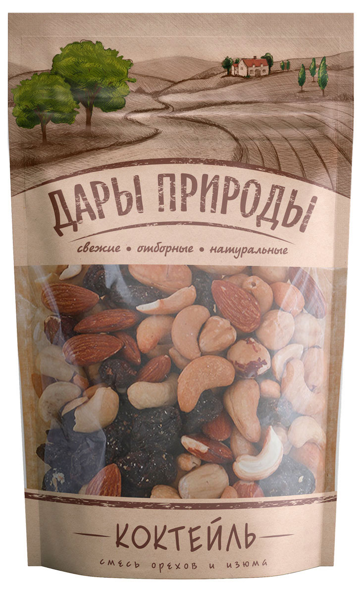 Дары природы Коктейль смесь орехов и изюма, 150 г дары природы миндаль без обжарки 150 г